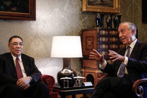 PR Marcelo Rebelo de Sousa recebe o Chefe do Executivo de Macau Fernando Chui Sai On