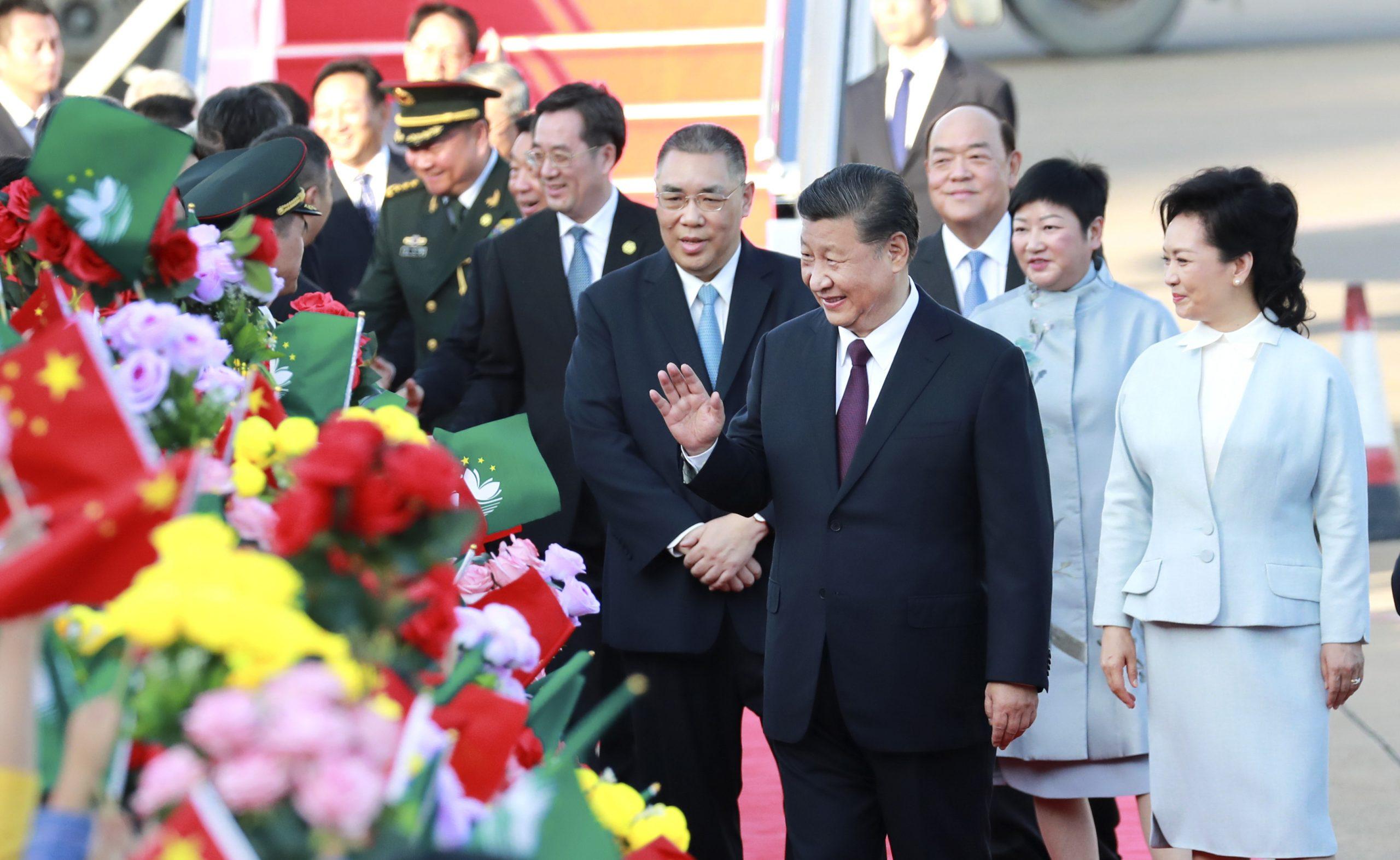 CHINA-MACAO-XI JINPING-ARRIVAL (CN)