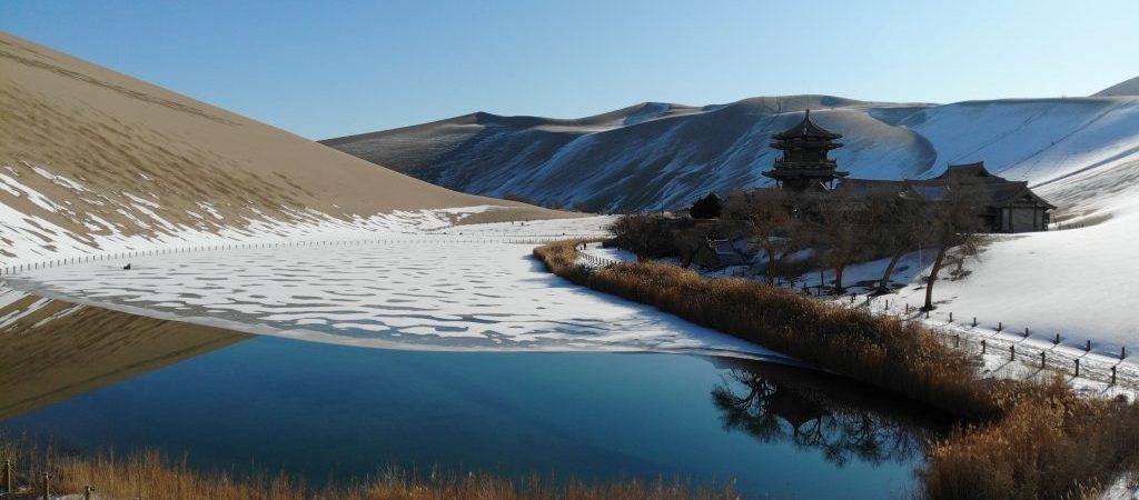 CHINA-GANSU-DUNHUANG-SNOW SCENERY (CN)