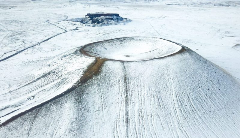 CHINA-INNER MONGOLIA-VOLCANO-SNOW SCENERY (CN)
