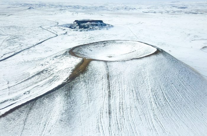 CHINA-INNER MONGOLIA-VOLCANO-SNOW SCENERY (CN)
