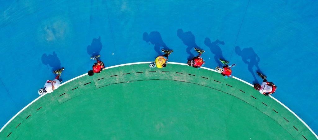 (SP)CHINA-HEBEI-RENQIU-ROLLER SKATING(CN)