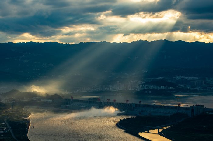 #CHINA-HUBEI-YICHANG-THREE GORGES-SUNSET GLOW(CN)