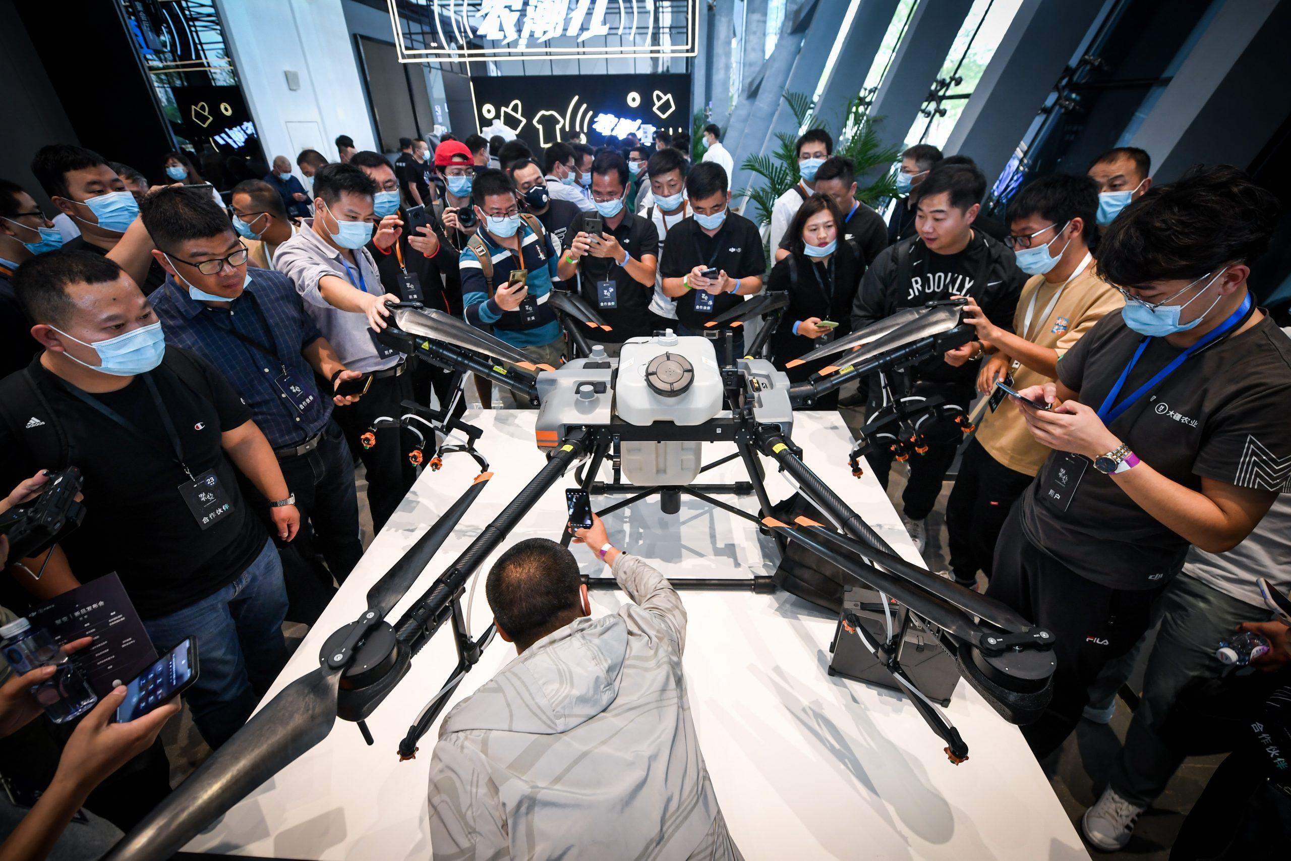 CHINA-GUANGDONG-SHENZHEN-DJI-CROP PROTECTION DRONES-PRODUCT LAUNCH (CN)