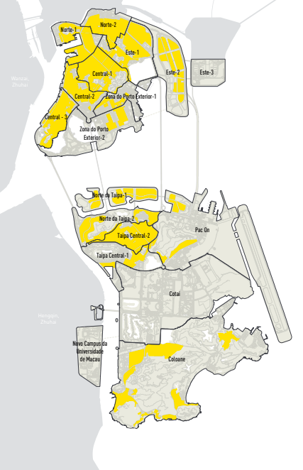 Map of Macao's Land For Housing and Urban Development