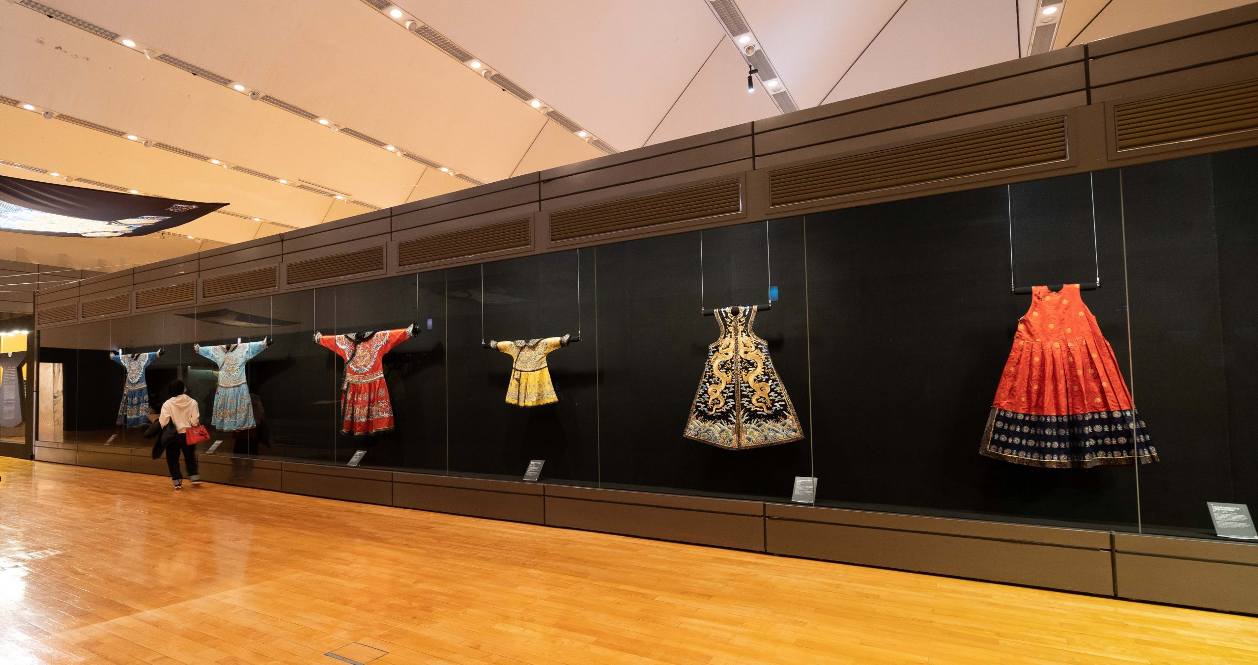 An assortment of robes at the exhibition