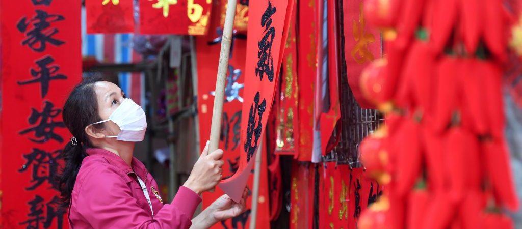 CHINA-GUANGXI-NANNING-SPRING FESTIVAL DECORATIONS-SHOPPING (CN)