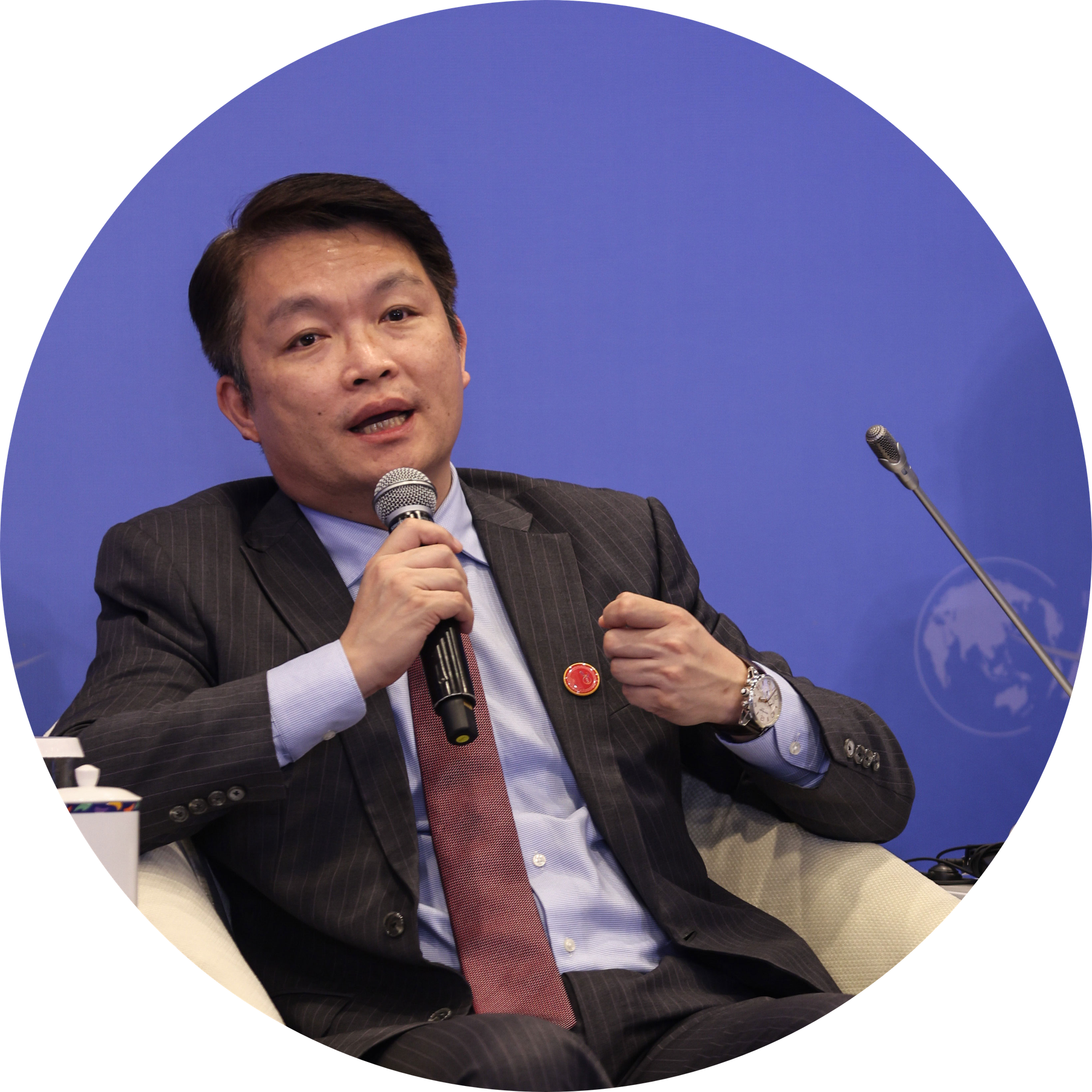 Macao's Secretary for Economy and Finance, Lei Wai Nong, speaks at the Boao Forum for Asia Annual Conference 2021