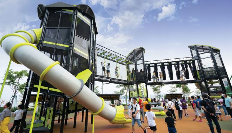 One of the play facilities at the new Kun Iam Statue Waterfront Leisure Area
