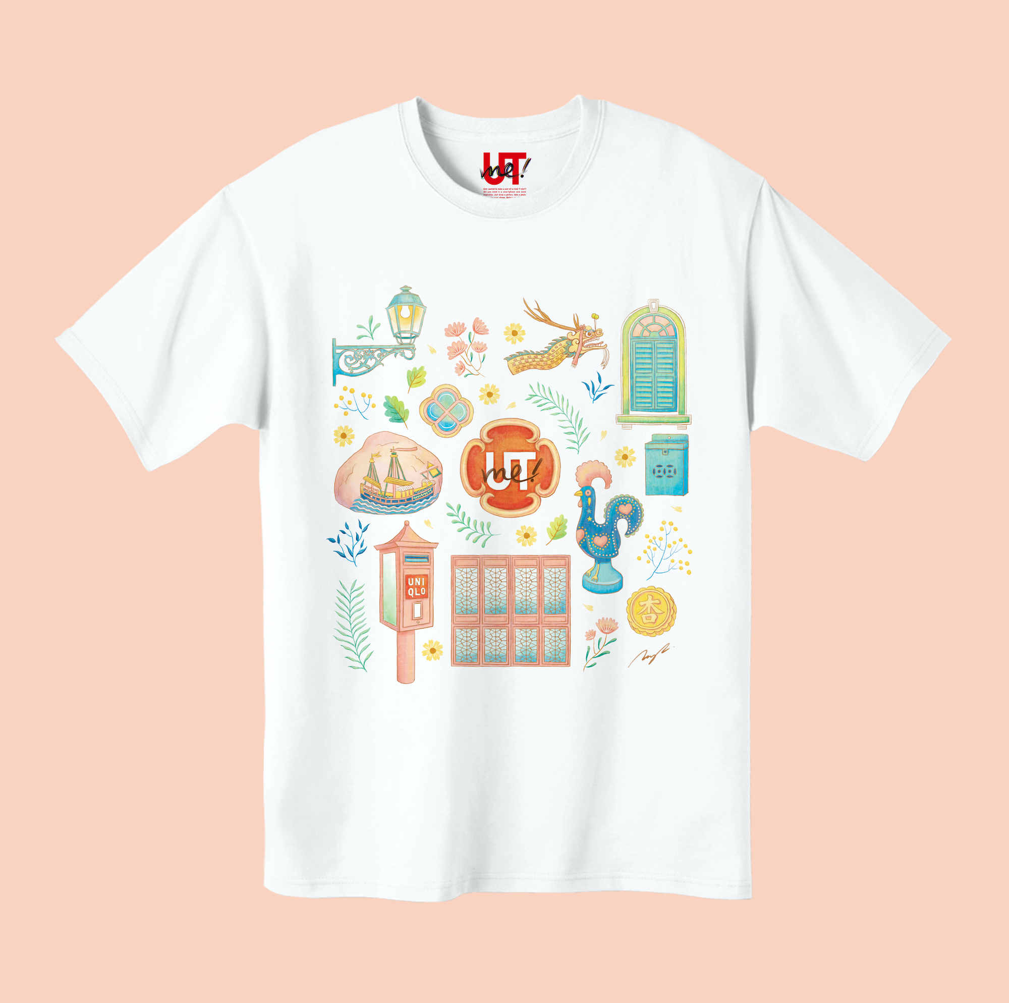 T-shirt design for UNIQLO UTme by Tramy Lui, Tick Design