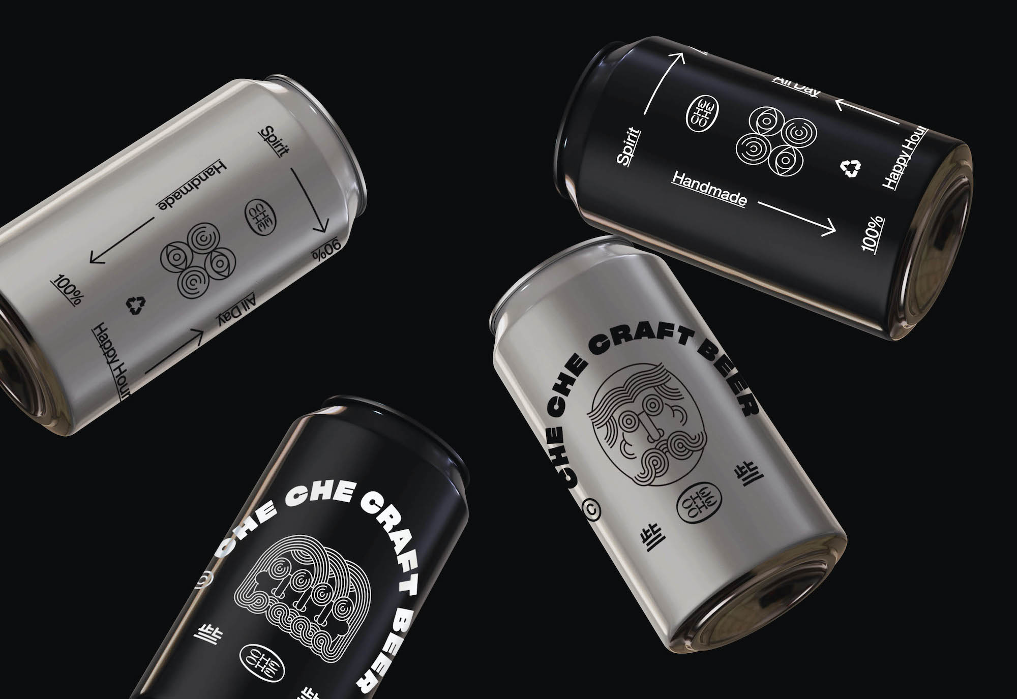 Untitled Macao's collaboration with 'Che Che' on recyclable can designs