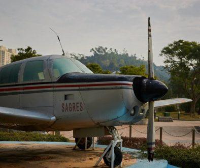 A single-engine plane
